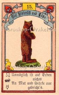 Der Bär im Steinbock Monatshoroskop an diesem Tag