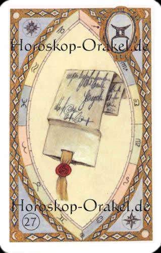 Der Brief, Steinbock Monatshoroskop