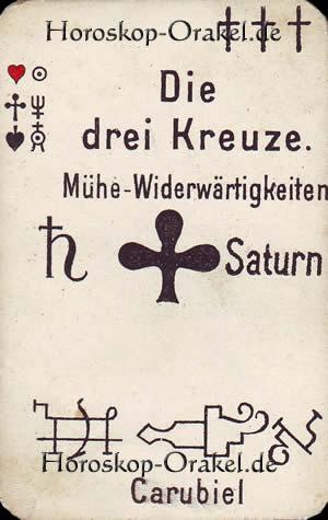 Die drei Kreuze, Steinbock Monatshoroskop Arbeit und Finanzen